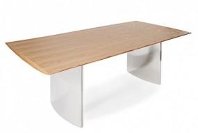 Masywny stół dębowy 200cm stal nierdzewna
