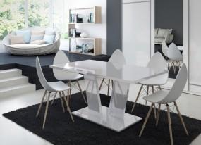 Stół wysoki połysk do jadalni salonu biały lub czarny 160 cm