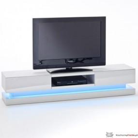 Szafka pod tv biała wysoki połysk LED 180cm