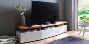 Stolik pod TV szafka drewniana  biała mat 180cm hit!