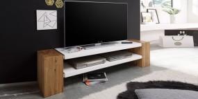 Stolik pod TV szafka drewniana  biała mat 170cm hit!