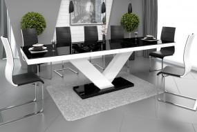 Stół rozkładany wysoki połysk dwa kolory
