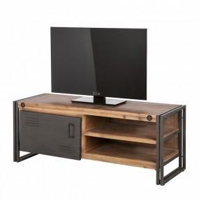Stolik pod telewizor antracyt industrial drewno 130cm