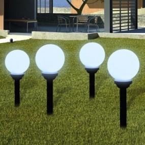 Zestaw lamp ogrodowych solarnych 4 sztuki
