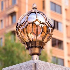 LAMPA OGRODOWA KULA ALUMINIUM DUŻA HIT
