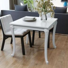 Stół do jadalni biały wysoki połysk 80cm