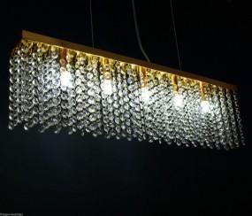 LAMPA SUFITOWA KRYSZTAŁY ZŁOTA HIT