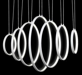 LAMPA SUFITOWA KOŁA PIONOWE LED DUŻA HIT
