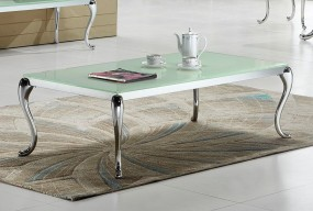 Ekskluzywny stolik szklany 130 cm barokowy