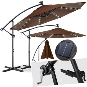 Parasol ogrodowy aluminiowy LED Ø300cm