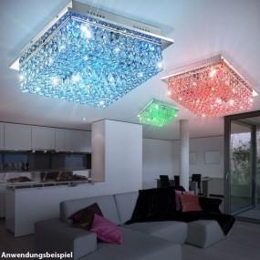 LAMPA SUFITOWA PLAFON KRYSZTAŁOWA LED RGB PILOT
