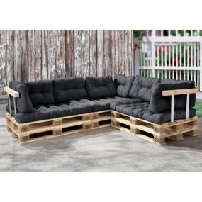 Sofa narożna palety narożnik poduszki meble z palet meble paletowe