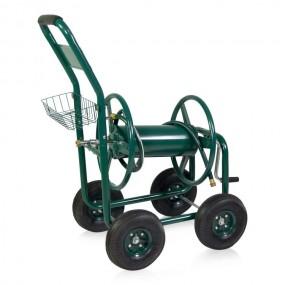 Solidny wózek na wąż ogrodowy 60 m metalowy HIT