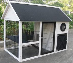 Klatka dla kur królików czarna biała klatka dla zwierząt