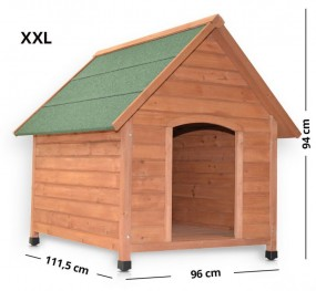 XXL Drewniana buda dla psa klatka z drewna otwierany dach