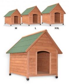 L Drewniana buda dla psa klatka z drewna otwierany dach