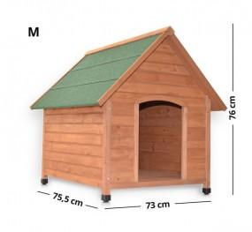 Drewniana buda dla psa M klatka z drewna otwierany dach