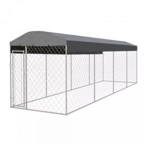 Kojec hodowlany dla psa kota królika klatka dla psa zagroda 8 x2 m z zadaszeniem