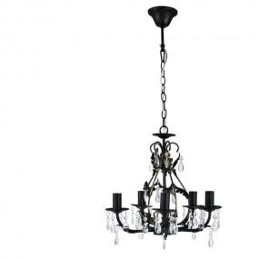 Żyrandol kryształowy 40cm lampa wisząca 5 ramienna