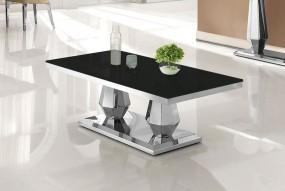 Ekskluzywny stolik kawowy szklany blat 130 cm