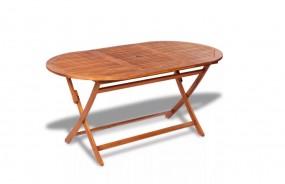 Stół ogrodowy drewniany składany naturalne drewno 160 cm ogród taras patio