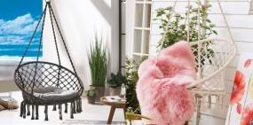 Fotel wiszący  krzesło 55cm hamak+ poduszka 2 kolory