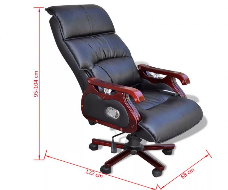 Fantastyczny Fotel biurowy masujący krzesło biurowe z masażem czarny - sklep KH41