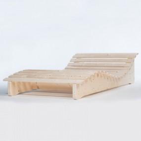 Leżanka ogrodowa drewniana leżak plażowy lite drewno