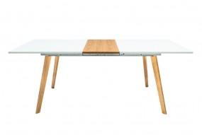 Stół do jadalni 160-200cm biały dąb matowy rozkładany stolik ława drewno