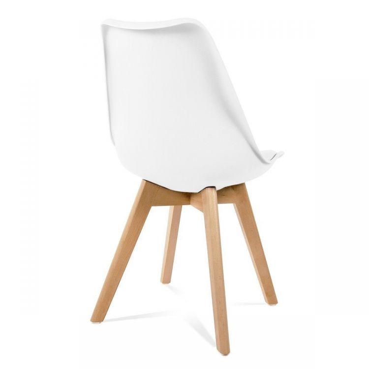 Bardzo dobra 4 x krzesła kuchenne Komplet białe krzesła do jadalni - sklep LA83