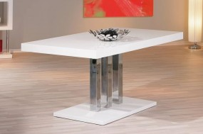 Stół do jadalni 160cm stolik ława biała wysoki połysk stół glamour