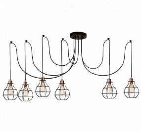 Lampa wisząca przemysłowa LOFT  vintage 6 x E27 żyrandol