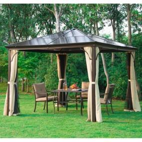 Altana pawilon ogrodowy w zestawie ze ścianami bocznymi z moskitierami  3 x 3 m