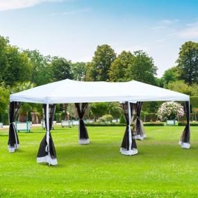 Pawilon ogrodowy altana namiot imprezowy składany z moskitierami 3 x 6 m