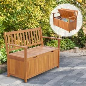 Ławka ogrodowa ze schowkiem ławeczka drewniana skrzynia do przechowywania