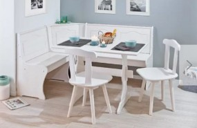 Stół biały do jadalni kuchni salonu zestaw stół krzesła narożnik sofa drewno komplet ława stolik drewno sosnowe