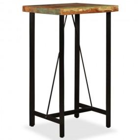 Stolik barowy solidny stół drewniany do hokerów do hokera do baru jadalni kuchni z naturalnego drewna 107 cm industrialny styl
