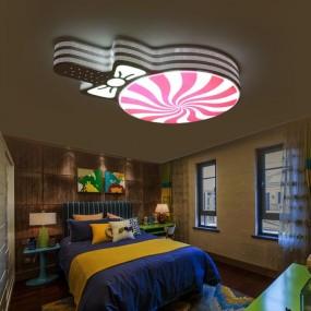 Lampa sufitowa lizak oświetlenie dla dzieci plafon do pokoju dziecięcego LED lampa wisząca pilot