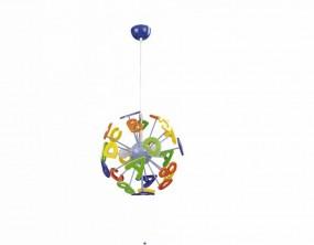 Lampa sufitowa literki oświetlenie dla dzieci do pokoju dziecięcego ABC lampa wisząca