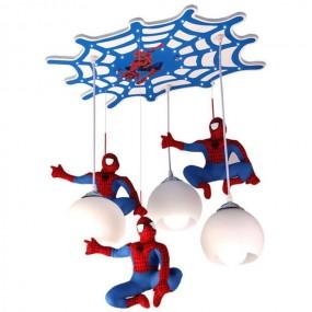 Lampa sufitowa Spiderman oświetlenie dla dzieci lampa do pokoju dziecięcego LED lampa wisząca żyrandol chłopiec