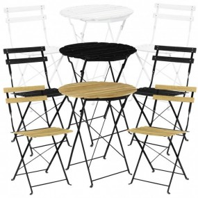 2-osobowy zestaw mebli ogrodowych 2 krzesła + stół meble ogrodowe drewniane  kolory