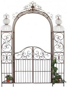 Żelazna pergola ozdobna brama ogród łuk różany+furtka ozdoba do ogrodu
