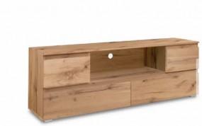 Szafka pod tv stolik pod telewizor drewniany 160cm szuflady półka drewno salon pokój