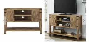 Szafka pod tv stolik pod telewizor wysoki drewniany 132cm półki drewno salon pokój stajak drzwiczki
