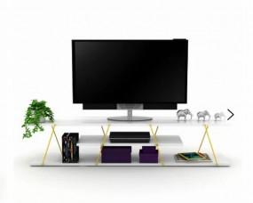 Szafka RTV stolik pod tv biały kredens komoda 143cm pokój salon  TV