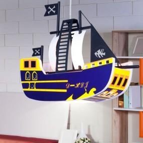 Lampa dziecięca dla dziecka wisząca oświetlenie do pokoju dziecięcego statek piracki