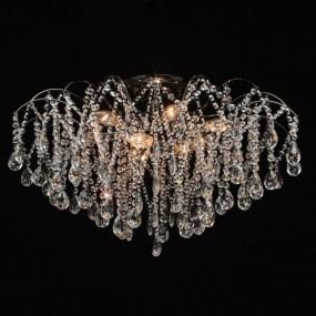 Elegancka lampa sufitowa żyrandol 9 ramienny kryształowy lampa wisząca kryształ styl