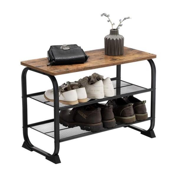 Stolik kawowy ława masywna ławka na buty półka do łazienki stół przemysłowy  salon pokój łazienka drewno żelazo kredens industrial
