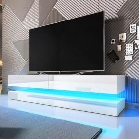 Nowoczesna szafka pod telewizor LED TV wysoki połysk komoda półka stolik RTV