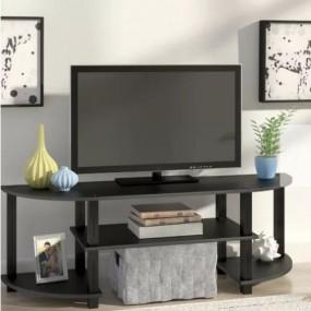 Nowoczesna szafka pod telewizor LED TV czarna komoda półka stolik RTV